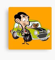 mr. bean - green car Canvas Print