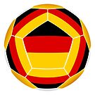 Ball with German flag by siloto