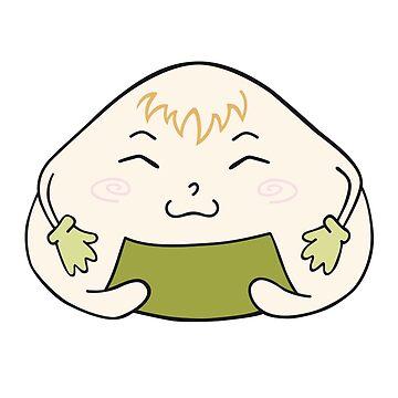 Funny onigiri  by -ashetana-