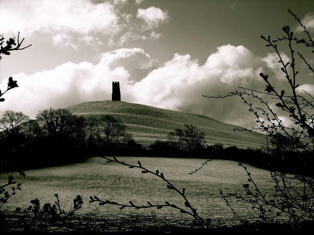 Side view of Glastonbury Tor by Amanda Gazidis