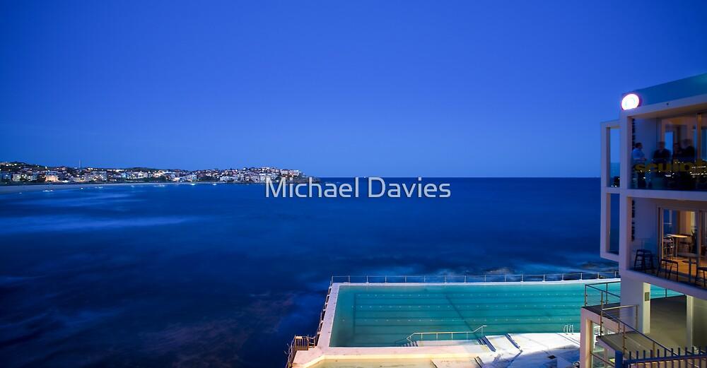 Evening at the Bondi Icebergs by Michael Davies