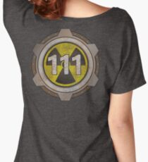 Radioactive fallout bunker shelter (7 in binary) Women's Relaxed Fit T-Shirt