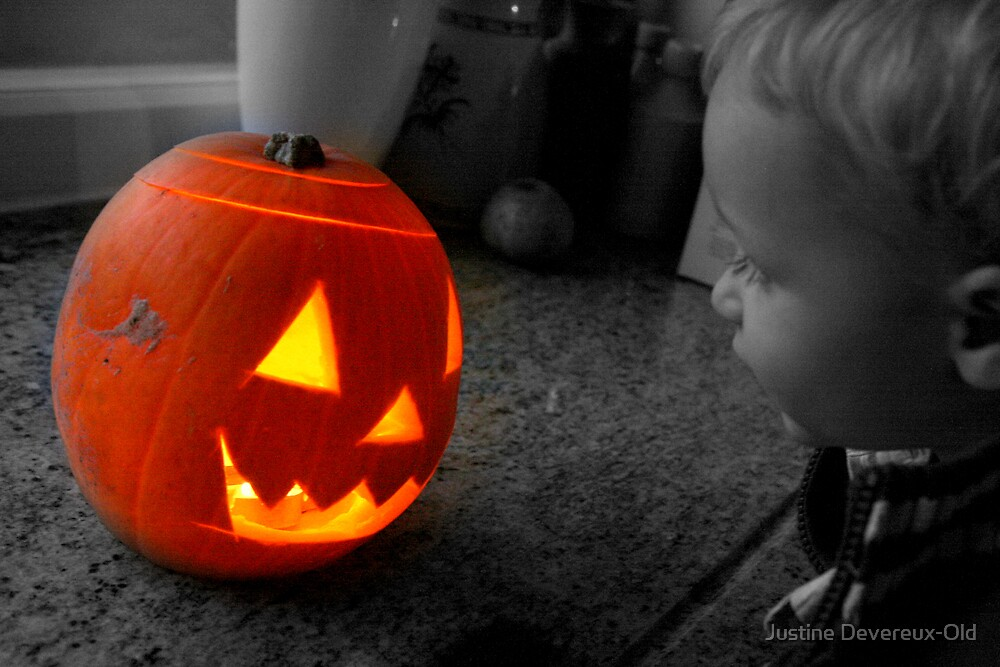 William and the pumpkin... by Justine Devereux-Old