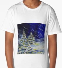 Christmas Trees in the Snow! Long T-Shirt