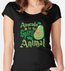Avocado Is My Spirit Animal Women's Fitted Scoop T-Shirt
