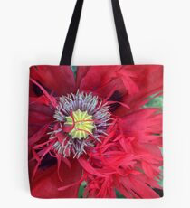 Double Red Poppy Tote Bag