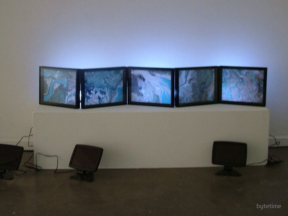 Estuarine Flows - in situ at Canberra contemporary Art Space, Manuka by bytetime