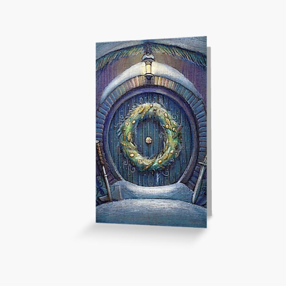 Tolkien Fantasy Weihnachtskarte Grußkarte