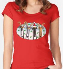Greyhound Antlers (assorted) Women's Fitted Scoop T-Shirt