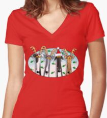 Greyhound Antlers (assorted) Women's Fitted V-Neck T-Shirt