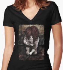 Alone... Women's Fitted V-Neck T-Shirt
