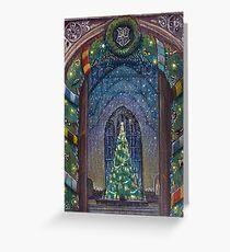 Potterhead Weihnachtstür Grußkarte