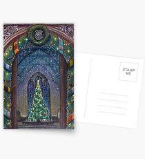 Potterhead Weihnachtstür Postkarten