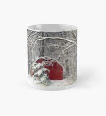 Red Barn in the Snow Mug