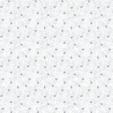 Scattered leaf and dots pattern in blue and white by Simut-P