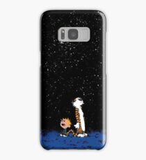 calvin and hobbes nigh Samsung Galaxy Case/Skin