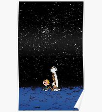 calvin and hobbes nigh Poster