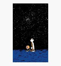 calvin and hobbes nigh Photographic Print