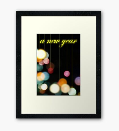 A New Year Framed Print