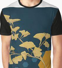 Gingko and Hexagons Graphic T-Shirt