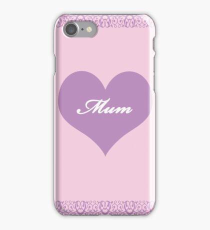 Mum Lilac Heart iPhone Case/Skin