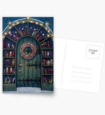 Zauberwelt der Bücher Tür Postkarten