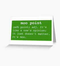 Friends tv show greeting cards redbubble moo point greeting card m4hsunfo Image collections