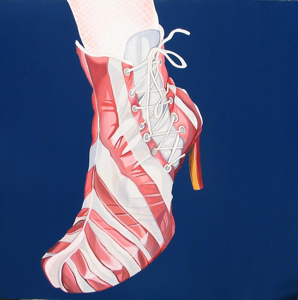 Candy Stripe Shoe by Kimberley East