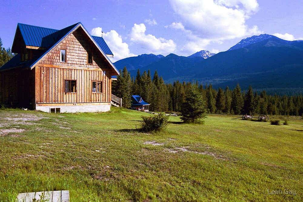 Cabins in the Rocky Mountains by Leah Gay