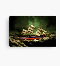 A Tea Clipper in Extreme Weather Canvas Print