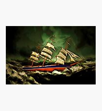 A Tea Clipper in Extreme Weather Photographic Print