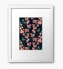 Sakura butterflies bold Framed Print
