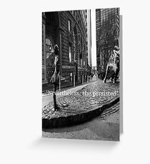 Fearless Girl Greeting Card