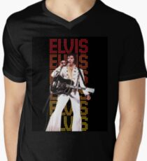 Elvis Presley, King of Rock and Roll, Type background T-Shirt
