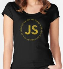 JavaScript - One language to rule them all Women's Fitted Scoop T-Shirt