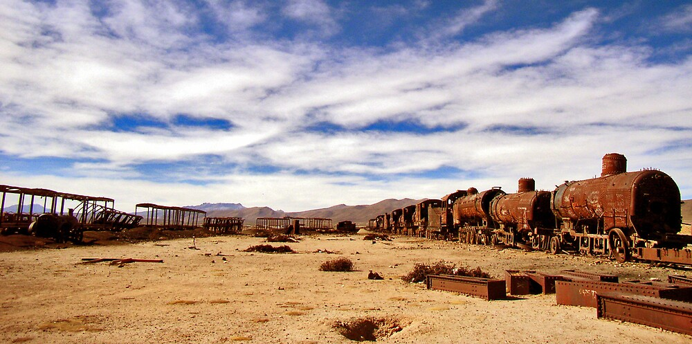 Ghost trains, Uyuni by Elaine Stevenson