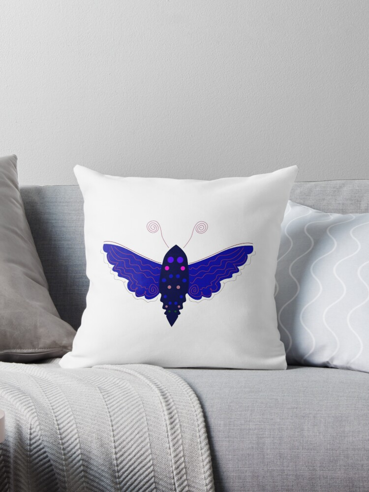 Butterfly design blue by Bee and Glow Illustrations Shop