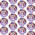 Star Flower Purple,  photography of shiny mosaic - JUSTART © by JUSTART