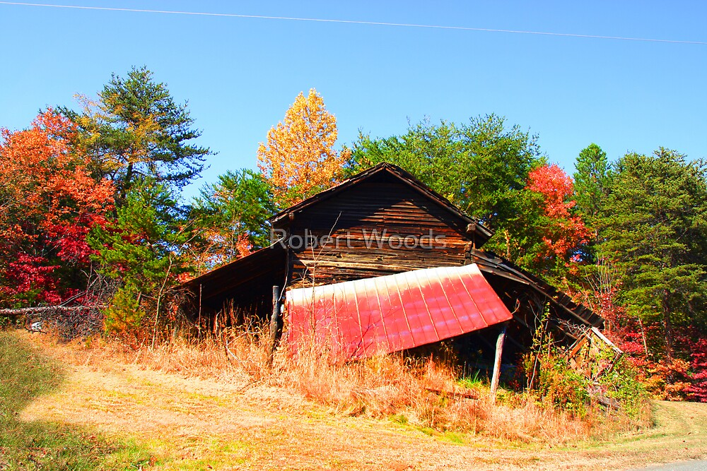 Barn on my Brothers property by Robert Woods