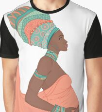 Pregnant African Beauty  Graphic T-Shirt