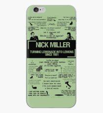 NICK MILLER iPhone Case