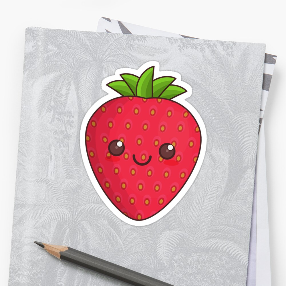 strawberry sticker by Lawrence Nicastro
