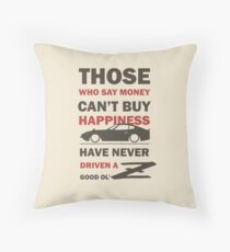 Happiness in a Datsun Z - Inverted Throw Pillow