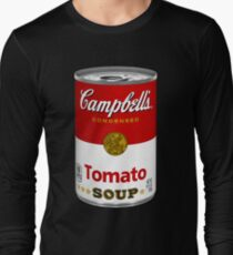 Campbells soup real photo realistic sticker Long Sleeve T-Shirt