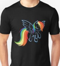 rainbow dash lineart T-Shirt