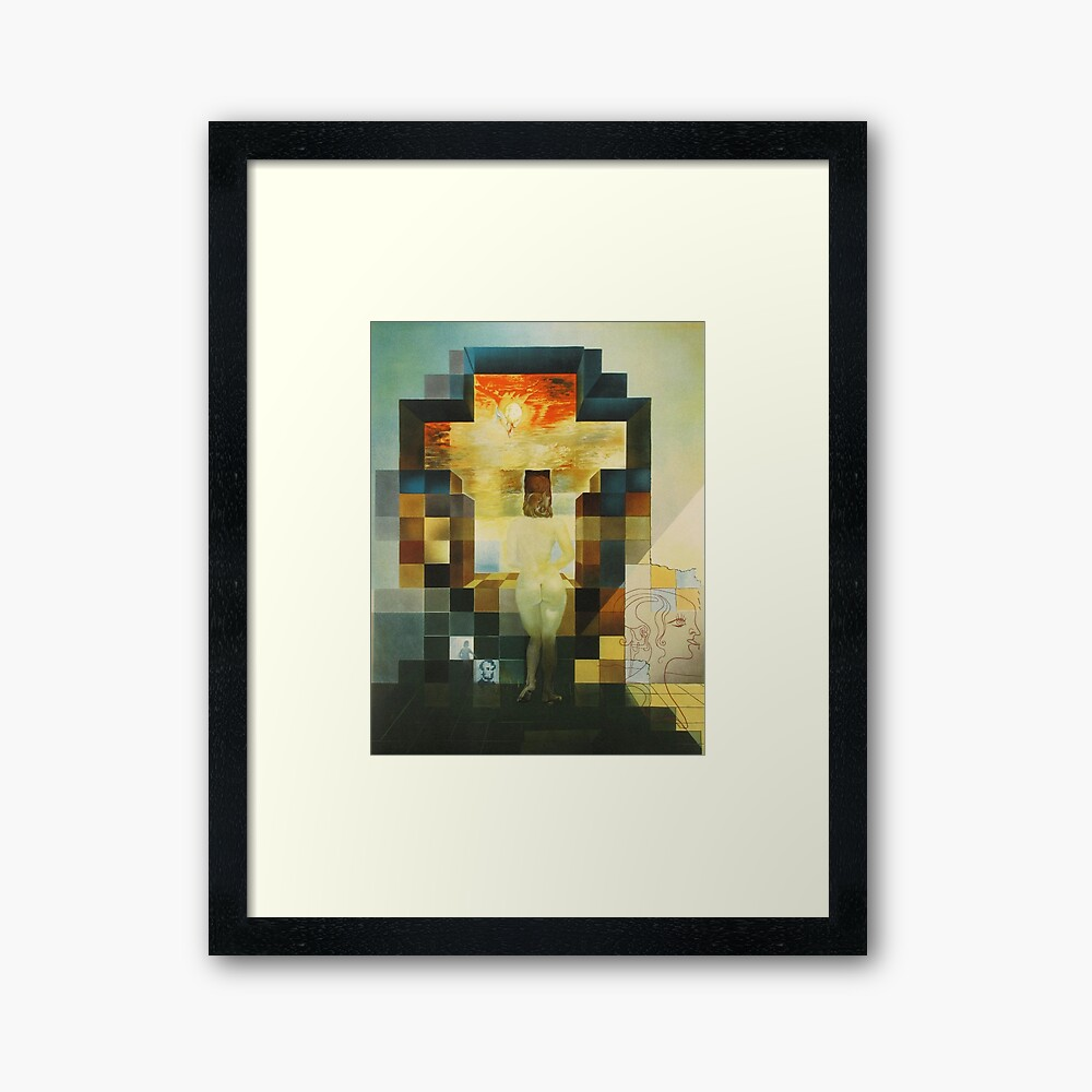 Lincoln in Dalivision- Salvador Dalí Framed Art Print