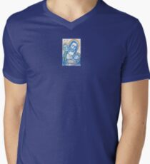 Holy Family In Blue 'Peace on Earth, Goodwill to Mankind' T-Shirt