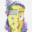 Growth on Mail Box | Watercolor Painting | Original art by Stephanie Kilgast by Stephanie KILGAST