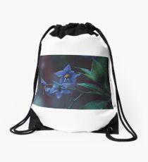 Flowers photography dark rain Drawstring Bag