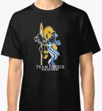 Team Greece Logo (Optimized for Black) Classic T-Shirt